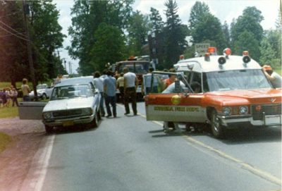 1978 Ambulance on accident scene