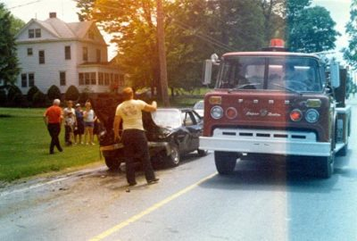 1978 Fire truck on accident scene